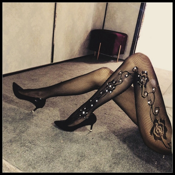 Miss Babydoll Other - ❤️NEW Sexy Bling Fishnet Floral Stockings #D20
